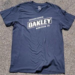 Oakley Charcoal Established 75 tee T-Shirt V-Neck